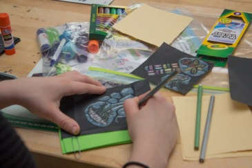 Embossing with School Specialties.